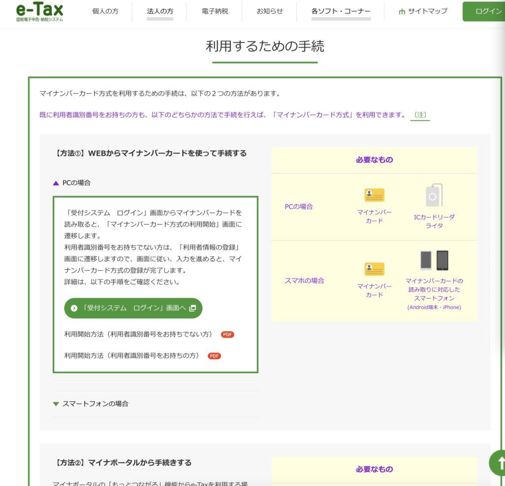 利用者識別番号取得登録